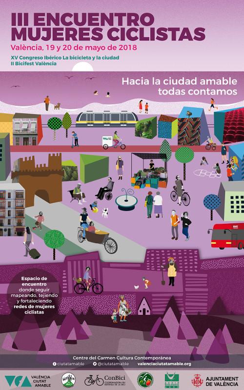 Cartel del III Encuentro de Mujeres Ciclistas