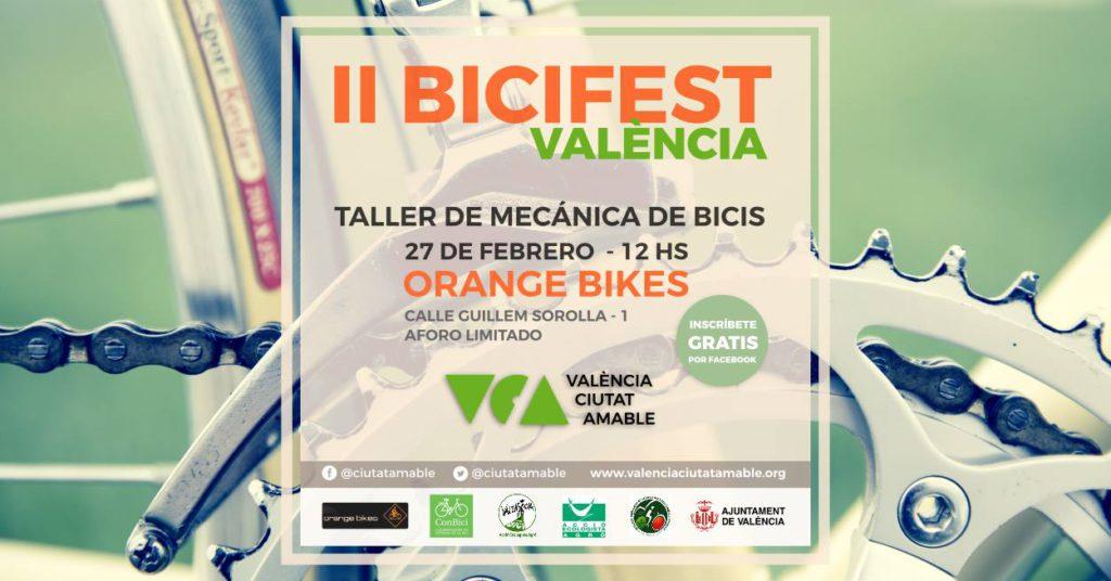 Cartel taller mecánica básica orange bikes